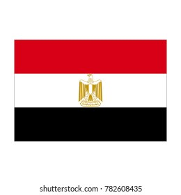 Egyptian flag, official colors and proportion correctly. National Flag of the Arab Republic of Egypt. Vector illustration on white background.