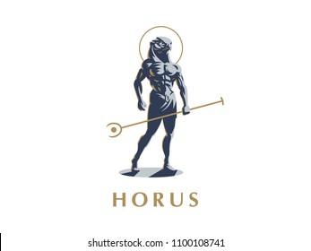 The Egyptian god Horus. Vector illustration.