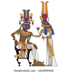 Egyptian hieroglyph and symbol Ancient culture sing and design element.Egypt icon,