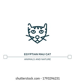 egyptian mau cat vector line icon. Simple element illustration. egyptian mau cat outline icon from cat breeds concept. Can be used for web and mobile