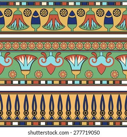 Egyptian ornament. Collection. Vector  illustration