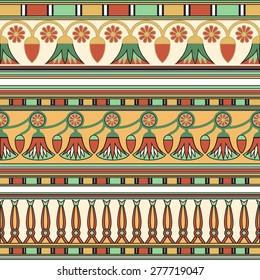 Egyptian ornament. Set. Vector illustration