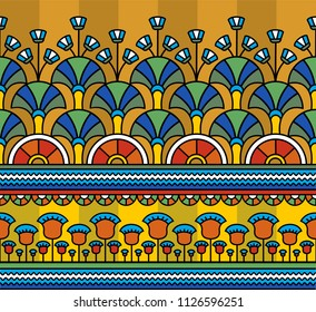 Egyptian ornament.Egyptian pattern. Seamless pattern in Egyptian style. Vector illustration