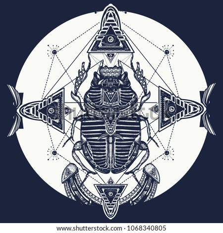 Egyptian Scarab Symbol Pharaoh Gods Ra Stock Vector Royalty Free