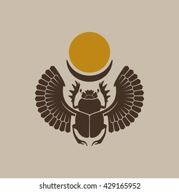 Egyptian Scarab / Vector illustration