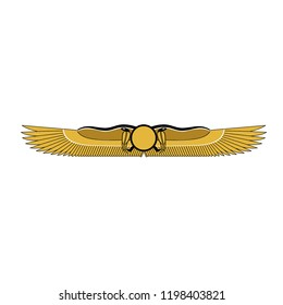 Egyptian Style Snake Wings Vector