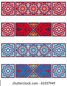 Egyptian Tent Banners-vector