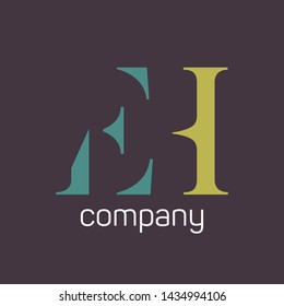 EH company logo. Monogram letters E and H.