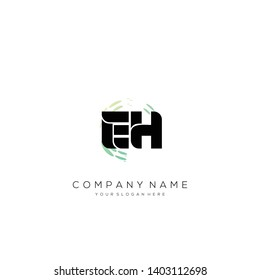 EH initial letter abstract logo design vector.