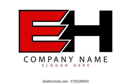 EH initial letter logo icon design premium vector concept.