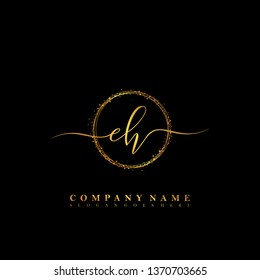 EH Initial luxury handwriting logo vector