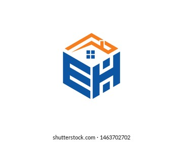 EH Letter logo with Home symbol