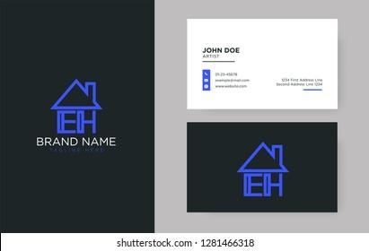 EH Letter Real Estate Logo Design - Real estate logo