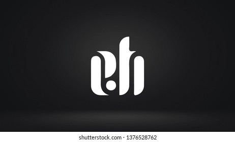 EH logo design template vector letter