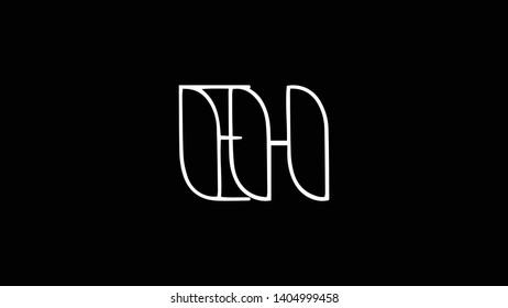 EH logo design template vector