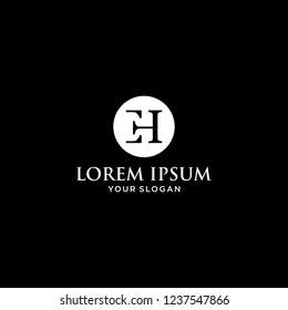 EH logo icon design premium