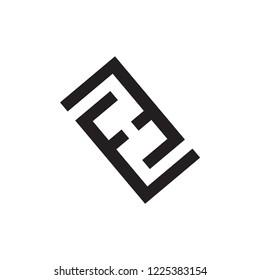 EH logo letter design