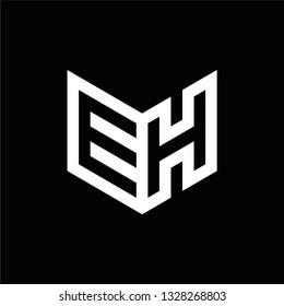 EH Logo Letter Initial Monogram Capital Designs Templete