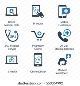 E-health Icons (Blue Series)