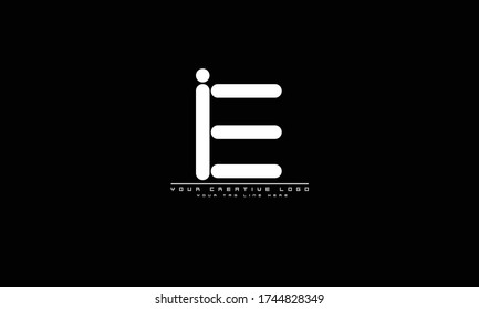 IE EI abstract vector logo monogram template