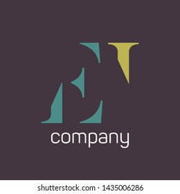 EI company logo design. Monogram. Letters E and I.