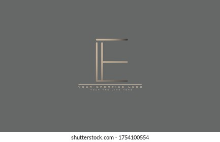 IE EI E abstract vector logo monogram template