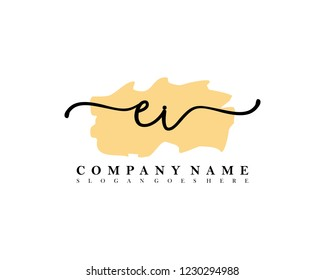 EI Initial handwriting logo vector