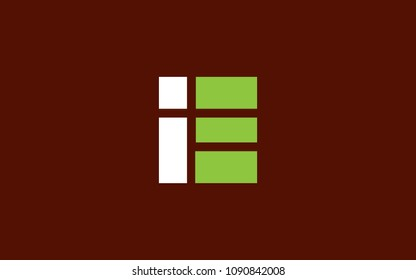 IE EI Letter Initial Logo Design Template