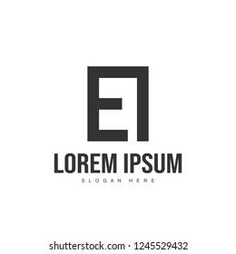 EI Letter logo design. Initial letter logo template design