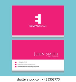 EI Logo | Business Card Template |