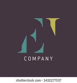 EI logo design. Monogram logo.
