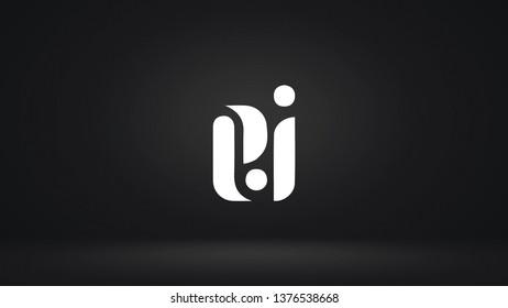 EI logo design template vector letter