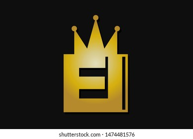 ei logo with gold crown