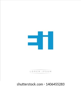 EI Logo Letter with Modern Negative space - Blue and Grey Color EPS 10