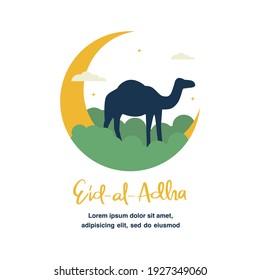 Eid AL Adha flat illustration