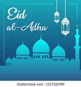Eid al-adha islamic background design - vector illustration