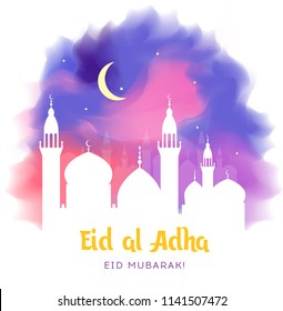 Eid al-Adha, Eid ul-Adha mubarak. Kurban Bayrami, Kurban Bajram muslim festival of sacrifice. Vector EPS 10
