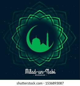 eid milad un nabi festival card design background