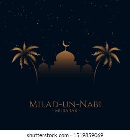eid milad un nabi (Translation Birth of the Prophet) festival card design background