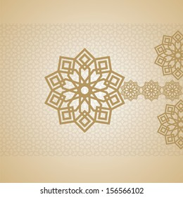 EID Mubarak Card arabic design