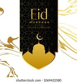eid mubarak creative greeting background design