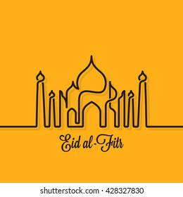 Eid Mubarak design line concept background