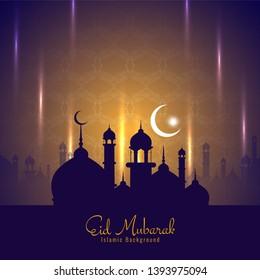 Eid Mubarak festival decorative background vector