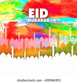 Eid Mubarak Festival Greeting Abstract Designs