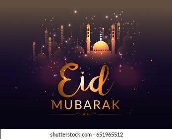 Eid Mubarak Greeting Card Background.