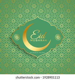 Eid Mubarak greets abstract background. Muslim holiday backgrounds