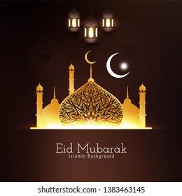 Eid Mubarak Islamic festival beautiful background vector