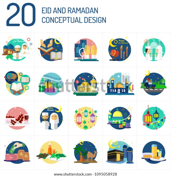Eid Mubarak and Ramadan Conceptual Design