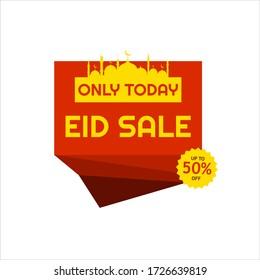 Eid Mubarak Sale Design for business. Discount Banner Promotion Template