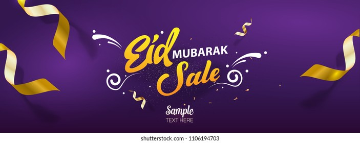 Eid mubarak Sale social media cover vector template design